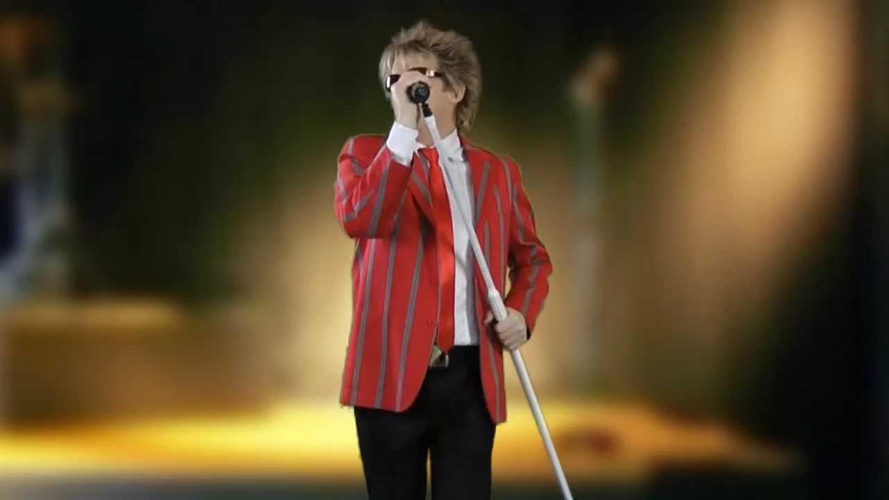 Bob Wyper as Rod Stewart September 2017, Cyprus Kendallevents.com